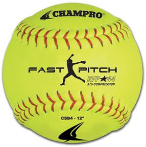 Yellow Recreational Fast Pitch Softballs CSB4