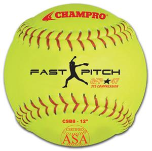 Yellow ASA Game Fast Pitch Softballs CSB8