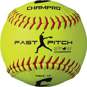 Yellow ASA Game Fast Pitch Softballs CSB18