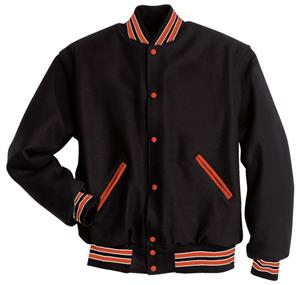 Holloway Snap Front All Wool Letterman Jacket