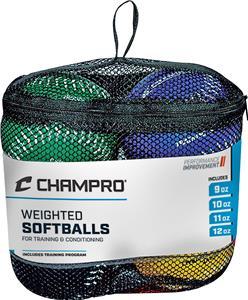 Champro Weighted Training Softballs Set of 4