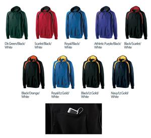 Holloway Tri-Color Quarter Zip Vibe Hoodie