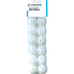 "Champro 5"" Poly Golf Balls Yellow or White"