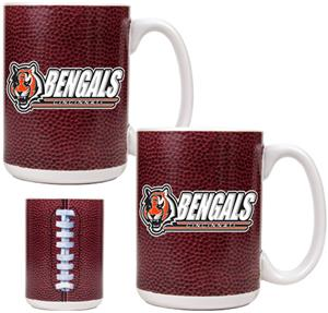 NFL Cincinnati Bengals 2pc Gameball Coffee Mug Set
