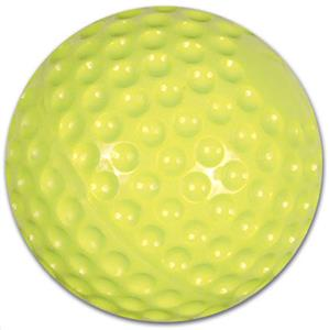 "Yellow 11"" & 12"" Dimple Molded Machine Softballs"