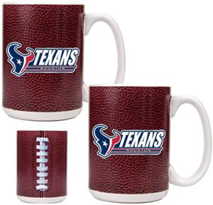 NFL Houston Texans 2pc Gameball Coffee Mug Set