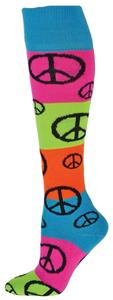 Red Lion Rainbow Peace Socks