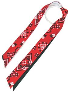 Red Lion Red Bandana Ribbon Ponytail Streamers