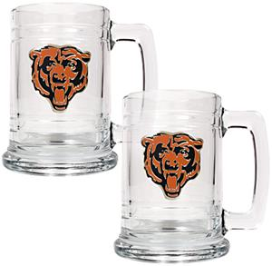 NFL Chicago Bears 2pc Glass Tankard Set