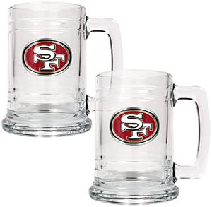 NFL San Francisco 49ers 2pc Glass Tankard Set