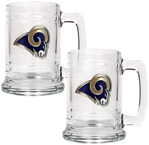 NFL St. Louis Rams 2pc Glass Tankard Set
