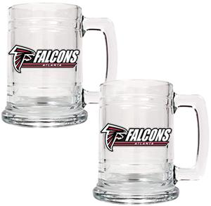 NFL Atlanta Falcons 2pc Glass Tankard Set