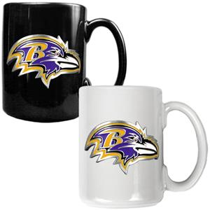NFL Baltimore Ravens Multi Color Mug Set