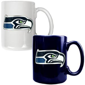 NFL Seattle Seahawks Multi Color Mug Set