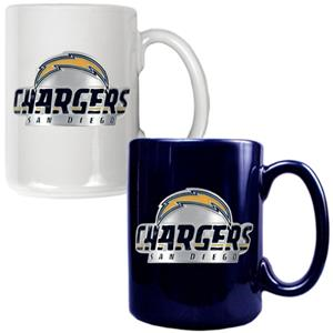 NFL San Diego Chargers Multi Color Mug Set