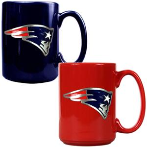 NFL New England Patriots Multi Color Mug Set
