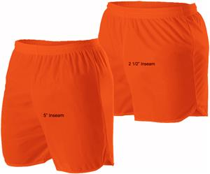 Alleson Adult Unisex Single Ply Track Shorts C/O