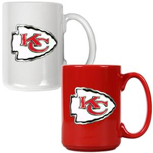 NFL Kansas City Chiefs Multi Color Mug Set