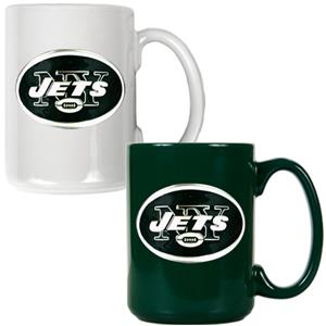 NFL New York Jets Multi Color Mug Set
