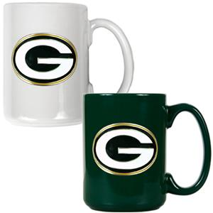 NFL Green Bay Packers Multi Color Mug Set