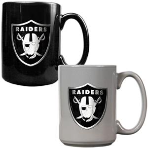 NFL Oakland Raiders Multi Color Mug Set
