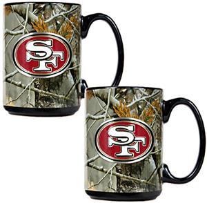 NFL San Francisco 49ers Open Field Coffee Mug Set