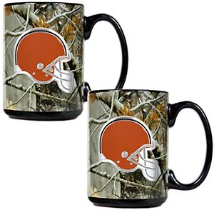 NFL Cleveland Browns 2pc Open Field Coffee Mug Set