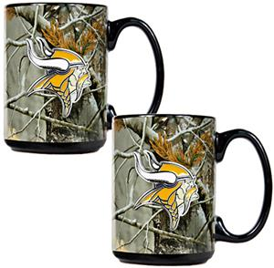NFL Minnesota Vikings Open Field Coffee Mug Set