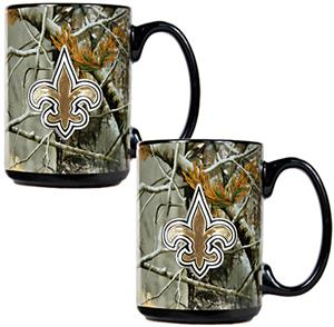 NFL New Orleans Saints Open Field Coffee Mug Set