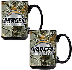 NFL San Diego Chargers Open Field Coffee Mug Set