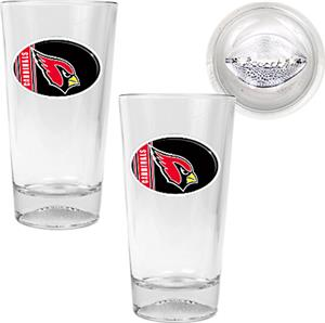 NFL Arizona Cardinals Football Base Pint Glass Set