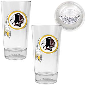 NFL Washington Redskins Football Base Pint Glasses