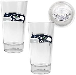 NFL Seattle Seahawks Football Base Pint Glass Set