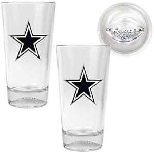 NFL Dallas Cowboys Football Base Pint Glass Set