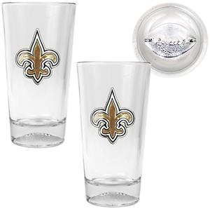 NFL New Orleans Saints Football Base Pint Glasses