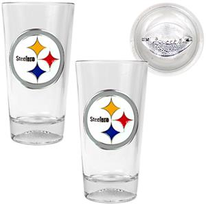 NFL Pittsburgh Steelers Football Base Pint Glasses