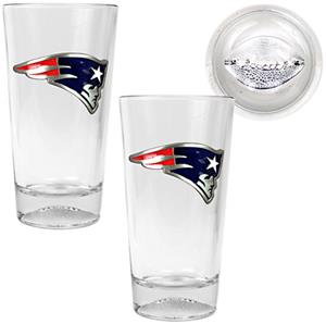 NFL New England Patriots Football Base Pint Set