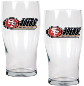 NFL San Francisco 49ers 20 oz Pub Glass Set
