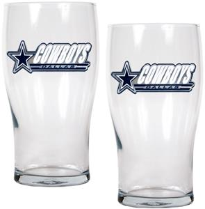 NFL Dallas Cowboys 20 oz Pub Glass Set