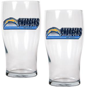 NFL San Diego Chargers 20 oz Pub Glass Set