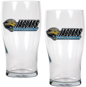 NFL Jacksonville Jaguars 20 oz Pub Glass Set