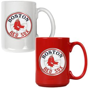 MLB Boston Red Sox 2pc Multi Color Coffee Mug Set