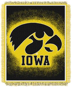 Northwest NCAA Iowa Hawkeyes Jacquard Throws