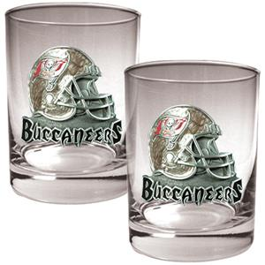 NFL Tampa Bay Buccaneers 14oz Rocks Glass 2 pc Set