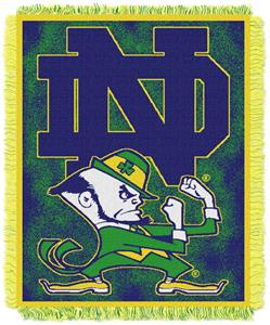 Northwest NCAA Notre Dame Jacquard Throws