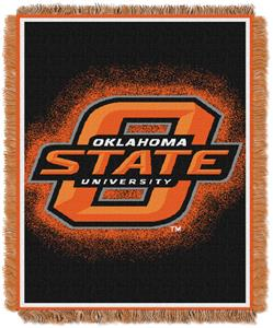Northwest NCAA Oklahoma Cowboys Jacquard Throws