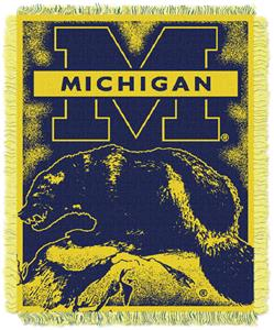 Northwest NCAA Michigan Wolverines Jacquard Throws