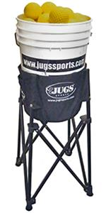 JUGS Bucket Plus Portable Ball Stand Basket