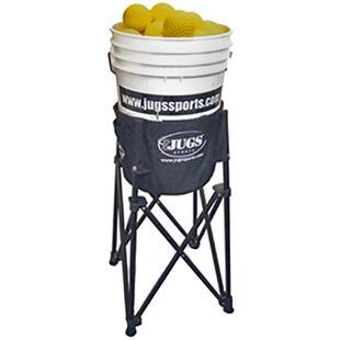 JUGS Bucket Plus Portable Ball Stand Basket