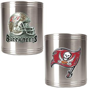 NFL Tampa Bay Buccaneers St. Steel Can Holders